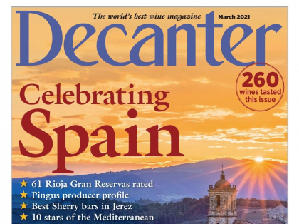 Finca Biniagual in the current Decanter Magazine