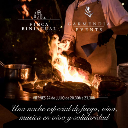 Fire, wine, live music – enjoy the Finca Biniagual in July